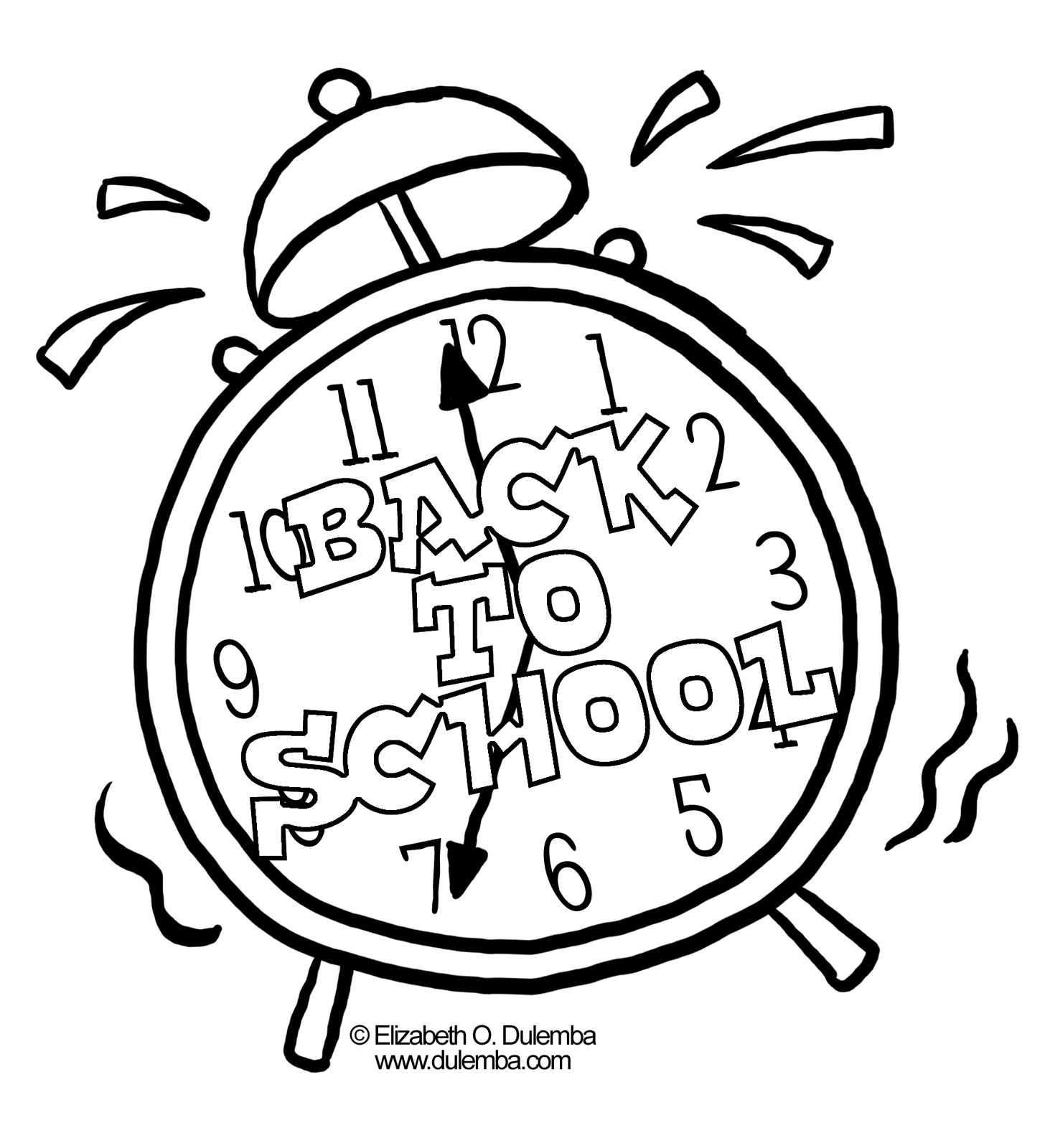 Clock Printable Coloring Pages