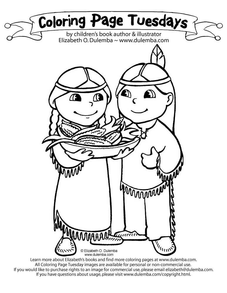 dulemba coloring page tuesday  american indians